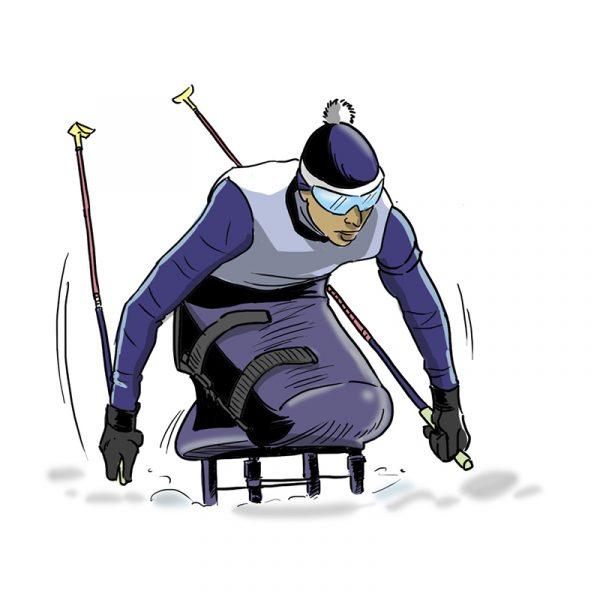 Dessins - ski de fond