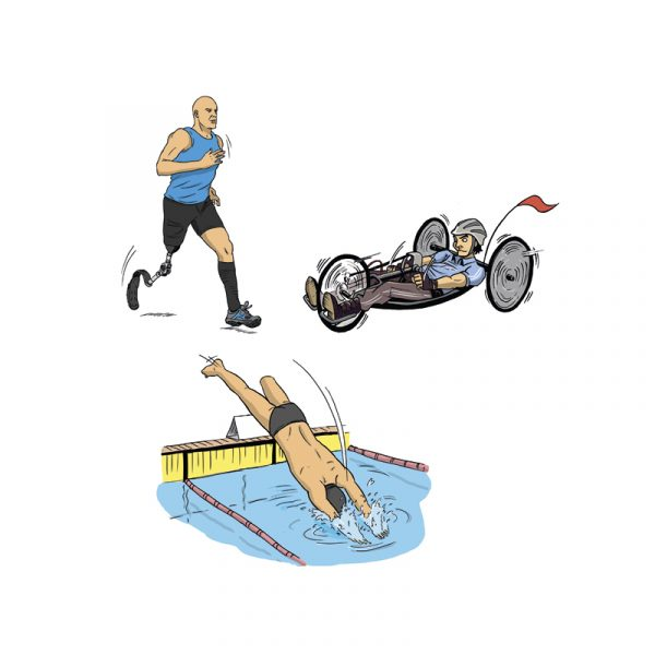 Dessins - triathlon