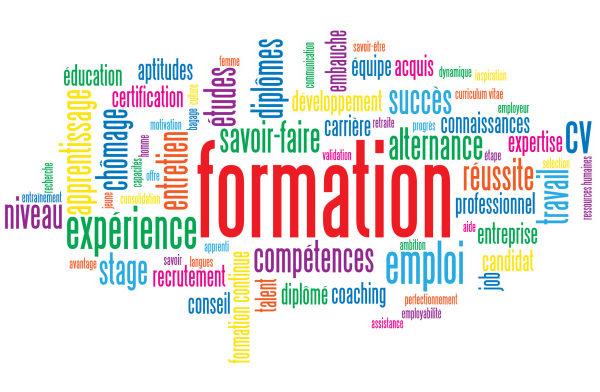 """Nuage de Tags """"FORMATION"""" (cv études travail continue stage)"""
